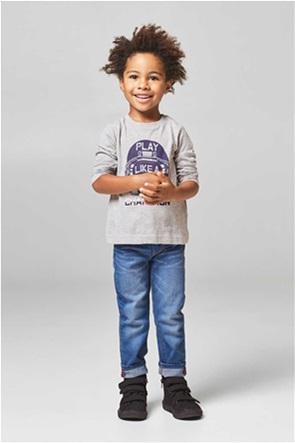 Esprit παιδικό μακρυμάνικο μπλουζάκι με letter print Play Like A Champion