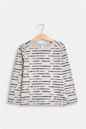 Esprit παιδικό μακρυμάνικο μπλουζάκι με print ρίγες