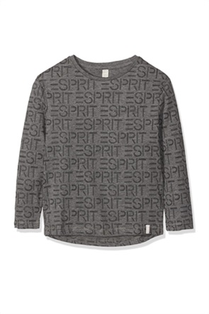 Esprit παιδική μπλούζα με all-over logo print (2-9 ετών)