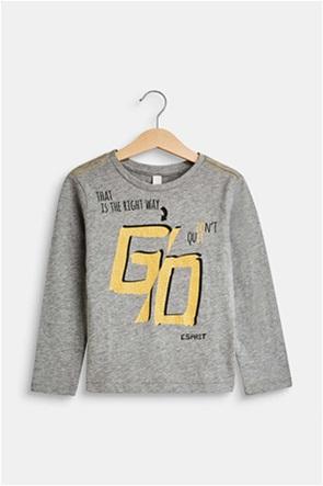Esprit παιδικό μακρυμάνικο μπλουζάκι με letter print