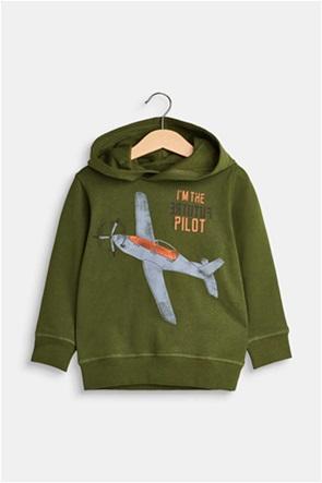 Esprit παιδικό φούτερ με print αεροπλάνο
