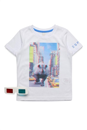 Εsprit παιδικό T-Shirt με photo print και 3D γυαλιά (2-9 ετών)