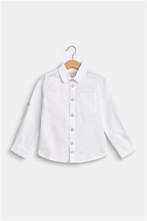 Esprit παιδικό πουκάμισο μονόχρωμο με απλικέ τσέπη (2-9 ετών)