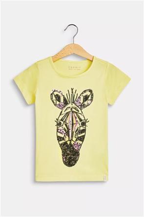 Esprit παιδικό Τ-Shirt με print από παγιέτες (4-9 ετών)