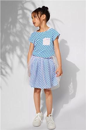 Esprit παιδική mini φούστα με ριγέ σχέδιο και τούλι (2-9 ετων)