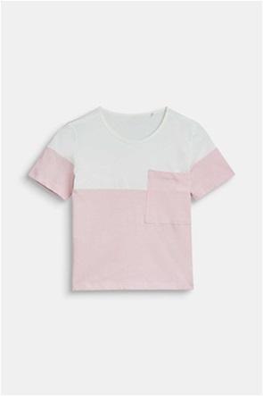 Esprit παιδικό T-shirt colour blocking με τσέπη (9-14 ετών)