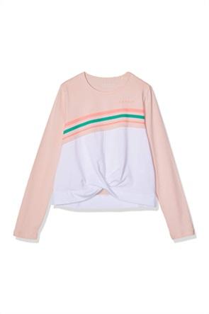 Esprit παιδική μπλούζα με print και διακοσμητικές σούρες