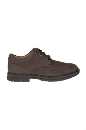 Clarks ανδρικά nubuck παπούτσια με κορδόνια ''Banning Plain''