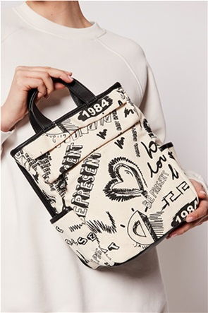 Desigual  γυναικεία τσάντα χειρός με all-over graphic print ''Jaleo Corinto''