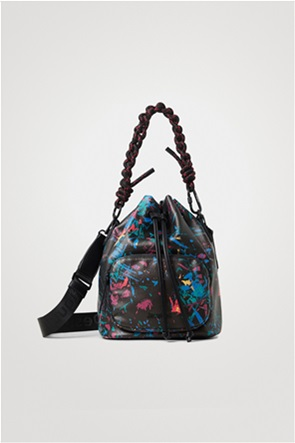 Desigual γυναικεία bucket bag με all-over print ''Virutas Natal''