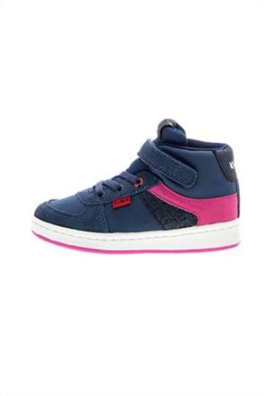 "Kickers παιδικά suede sneakers με velcro ""Bilbon BB Mid"""