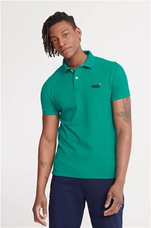 "Superdry ανδρική polo μπλούζα με κεντημένο λογότυπο ""Classic Pique Polo"""