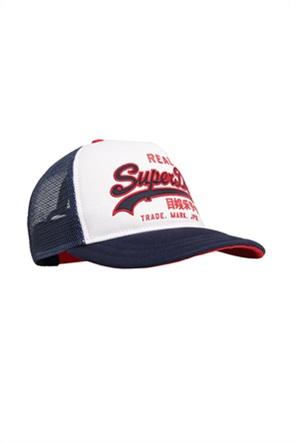 Superdry ανδρικό καπέλο jockey με κεντημένο λογότυπο