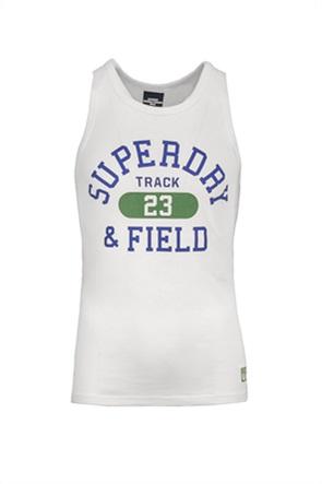 """Superdry ανδρική αμάνικη μπλούζα με logo letter print """"Track & Field Graphic Vest"""""""