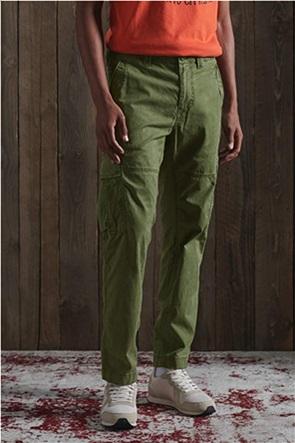 Ανδρικό παντελόνι μονόχρωμο με flap τσέπες ''Core Cargo''