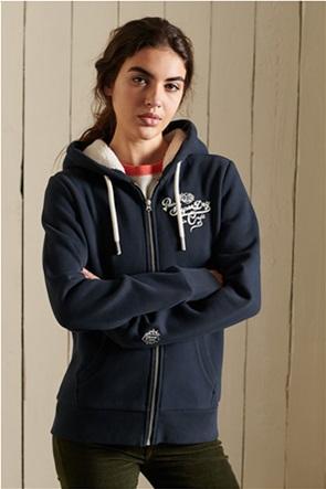 Superdry γυναικεία φούτερ ζακέτα με κεντημένο λογότυπο ''Pride In Craft''