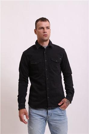 Pepe Jeans ανδρικό πουκάμισο denim με flap τσέπες Slim Fit ''New Jepson''