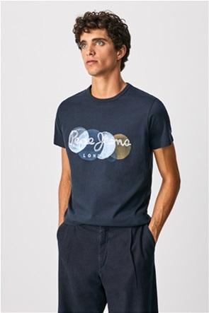 "Pepe Jeans ανδρικό T-shirt με paint logo print ""Sacha"""