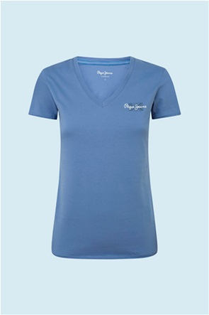 "Pepe Jeans γυναικείο T-shirt με logo print ""Bleu"""