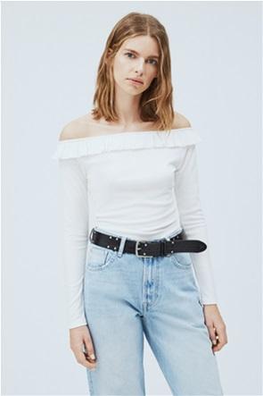 "Pepe Jeans γυναικεία μπλούζα ribbed ""Colette"""