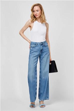 Pepe Jeans γυναικείο τζην παντελόνι ψηλόμεσο Wide Leg ''Faith'' (32L)