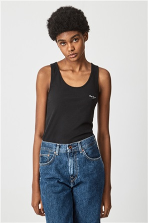 Pepe Jeans γυναικεία μπλούζα αμάνικη με contrast logo print ''Duni''
