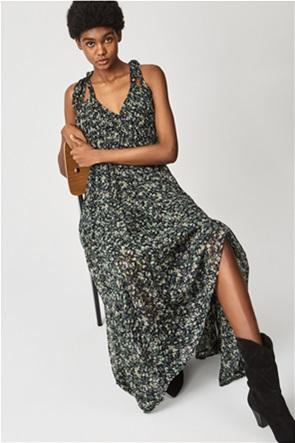 Pepe Jeans γυναικείο maxi φόρεμα αμάνικο με all-over floral print ''Olivia''