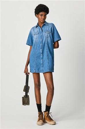 Pepe Jeans γυναικείο mini φόρεμα denim με flap τσέπες ''Holly''