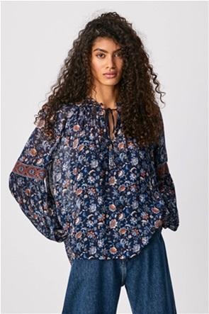 "Pepe Jeans γυναικεία μπλούζα με all-over flower print ""Kiara"""
