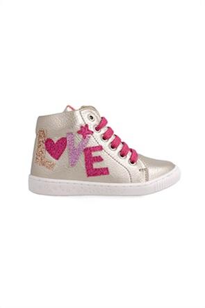 Agatha Ruiz de La Prada παιδικά sneakers μποτάκια με κεντημένο σχέδιο (28-32)