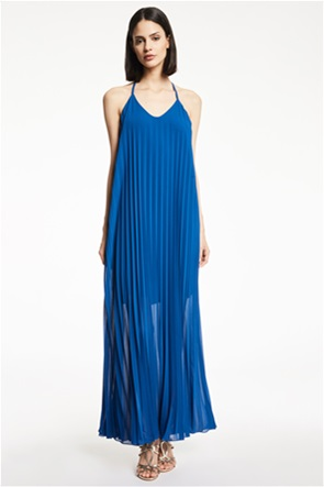 Gaudi γυναικείο maxi φόρεμα πλισέ