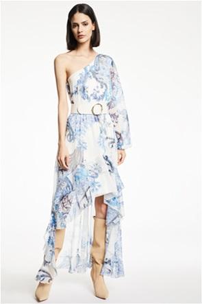 Gaudi γυναικείο ασύμμετρο  φόρεμα με all-over paisley print