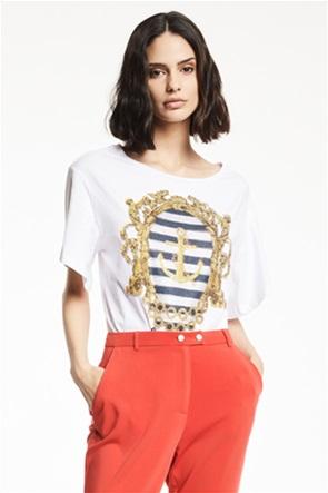 Gaudi γυναικείο T-shirt με ancor print