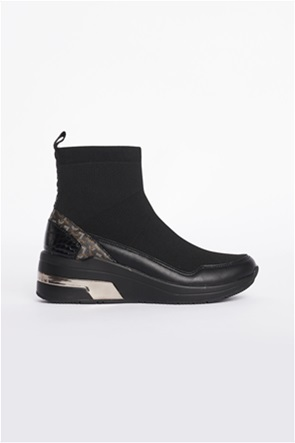 "Gaudi γυναικεία sneakers Slip-On με logo print ""Multicolor"""