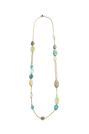 "Antica Murrina γυναικείο κολιέ από γυαλί Μουράνο ""Long Summer Verde"" 87.5 cm"