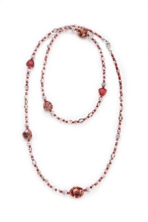"Antica Murrina γυναικείο μακρύ κολιέ από γυαλί Μουράνο ""Αllure Long Red"""