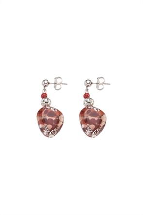 "Antica Murrina γυναικεία σκουλαρίκια από γυαλί Μουράνο ""Αllure  Pendente Red"" 3.5 cm"