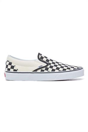 Vans unisex υφασμάτινα παπούτσια με καρό σχέδιο Classic Slip-On