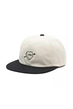 Vans ανδρικό καπέλο jockey με κεντημενο σχέδιο ''Valentines''