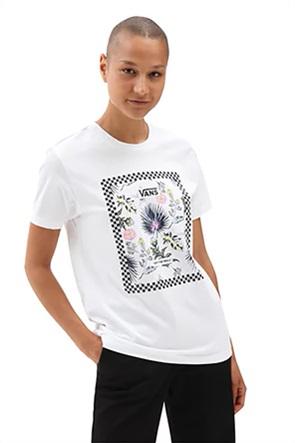 Vans γυναικείο T-Shirt με graphic print ''Border Floral Boyfriend''