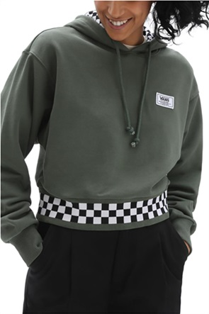 "Vans γυναικεία μπλούζα φούτερ με κουκούλα και καρό λεπτομέρειες ""Boom Boom"""