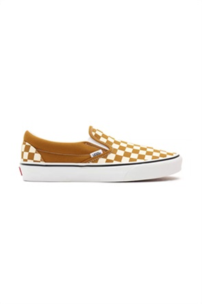 Vans unisex υφασμάτινα παπούτσια με checkerboard print ''Classic Slip-On''