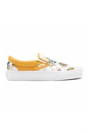 Vans unisex υφασμάτινα παπούτσια με checkerboard print ''Garden Check Classic Slip-On''