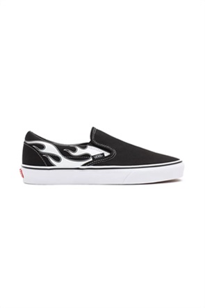 Vans unisex υφασμάτινα παπούτσια με print ''Flame Classic Slip-On''