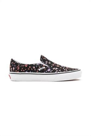 Vans unisex υφασμάτινα παπούτσια με floral print ''Classic Slip-On''