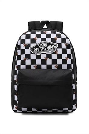 Vans unisex backpack με ckeckerboard print ''RealM