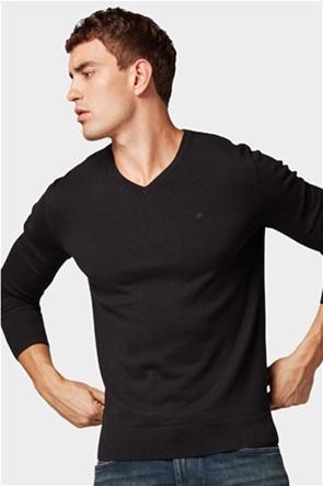 Tom Tailor ανδρική πλεκτή μπλούζα με V λαιμόκοψη