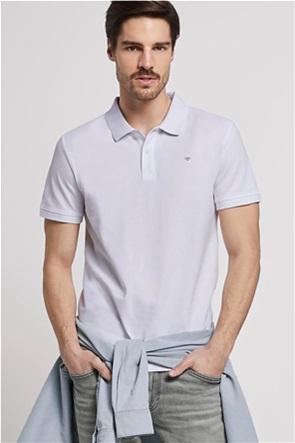 Tom Tailor ανδρική μπλούζα πόλο με κεντημένο logo