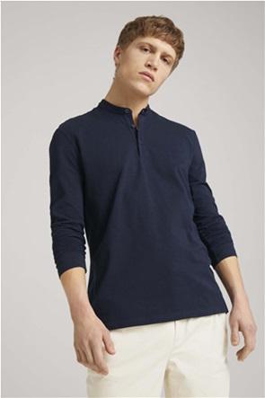 Tom Tailor ανδρική μπλούζα με μάο γιακά