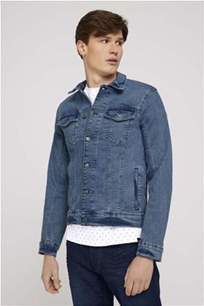 Tom Tailor ανδρικό denim jacket με flap τσέπες